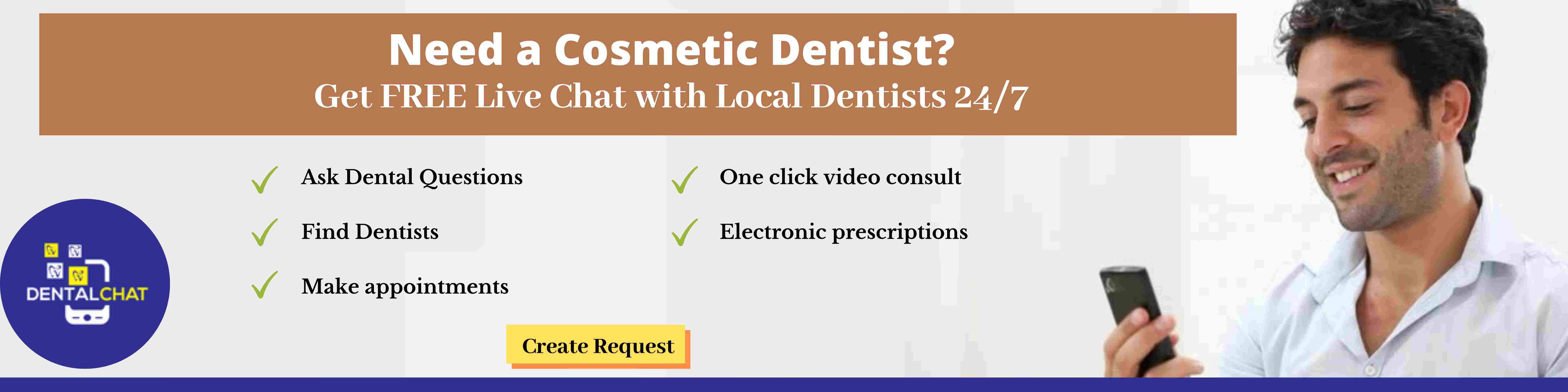Local cosmetic dentistry teledentistry question consultation ask dentists virtually