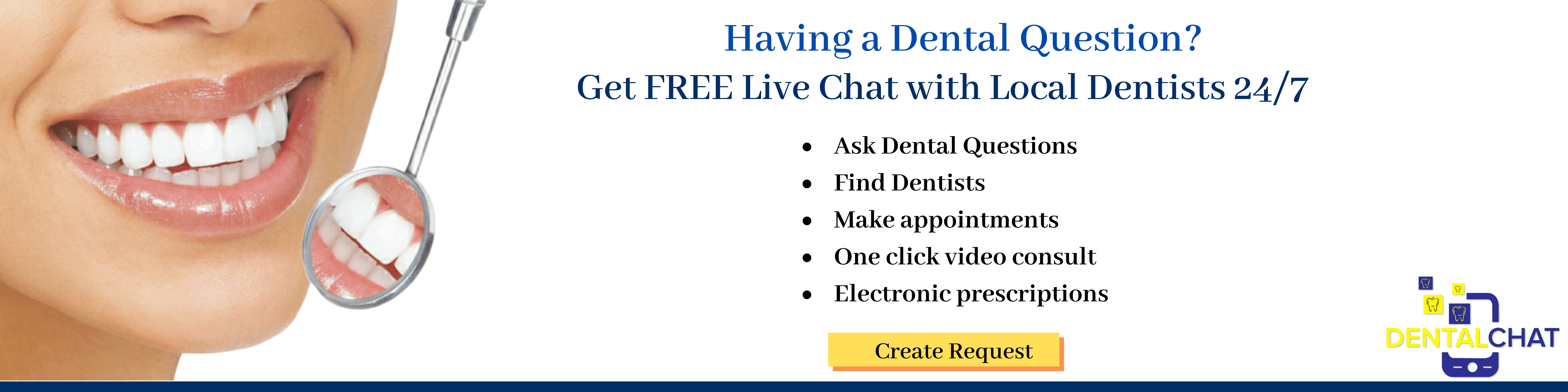 Local Dentists Communication Chat, Answering Dentistry Questions Using Teledental Consultation