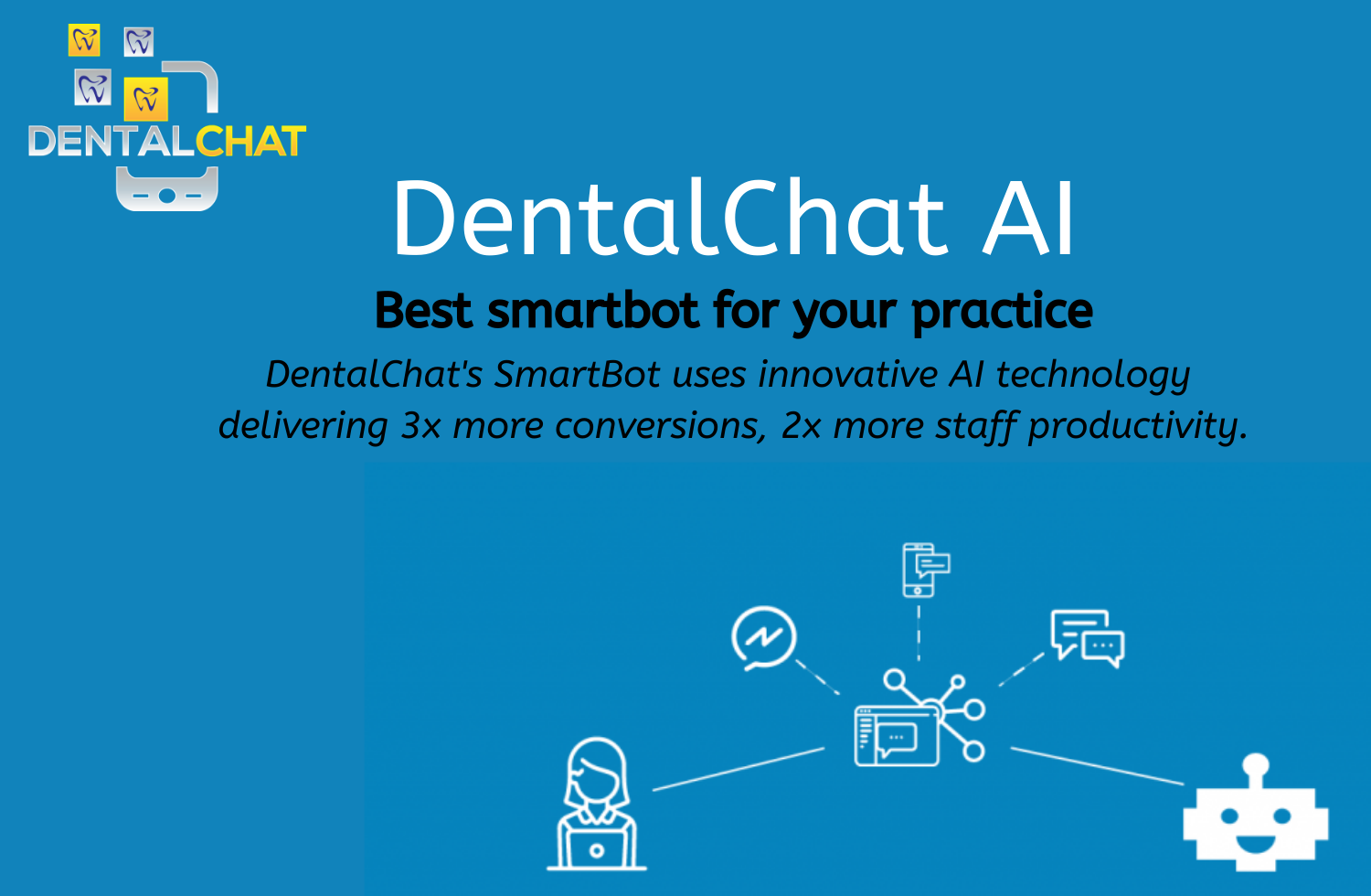 Local Tele Dentists AI and Dental Chat Bot Messaging Online